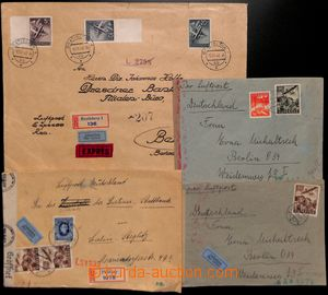185557 - 1941-42 sestava 4ks dopisů adresovaných do Berlína, běžné fr