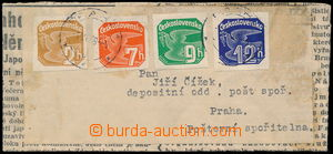 185566 - 1939 whole address newspaper wrapper with 4-coloured frankin