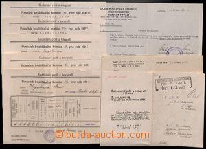 185574 - 1934-47 ŘEDITELSTVÍ POŠT a TELEGRAFU  sestava 8ks různých os