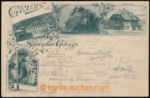 185834 - 1899 SVOJKOVSKÉ VRCHY (Schwojkauer Gebirge) - 4-záběrová čb