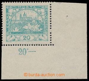 185951 -  Pof.8A OHZ, 20h modrozelená, pravý dolní rohový kus, obráce
