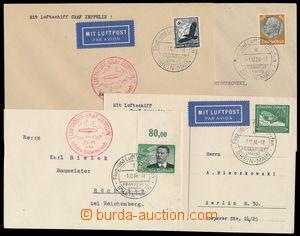 186091 - 1938 ZEPPELIN / FAHRT IN DER BEFREITE SUDETENLAND, 4x LZ130,