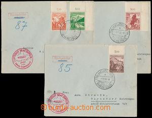 186092 - 1938 ZEPPELIN / FAHRT IN DER BEFREITE SUDETENLAND, 3x LZ130,