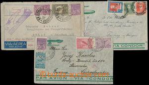 186274 - 1932-1934 ZEPPELIN / 2 zeppelinové dopisy z Brazílie a 1 z A