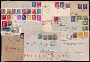 186276 - 1920-1938 sestava 7ks dopisů, z toho 5x R, vyfr. mj. Mi.12x