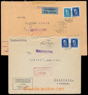 186277 - 1938 Let-dopis a R-dopis do Československa s Mi.117 a 135, D
