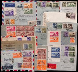 186299 - 1944-1954 15 Let-dopisů vyfr. emisemi Letecké a Farouk, DR C