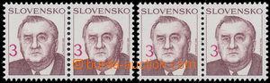 186407 - 1993 Zber.19, Kováč 3Sk, 2x 2-páska, 1x s posunutým hodnotov