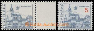 186408 - 1993 Zber.3 VV, Ružomberok 5Sk, krajový kus bez nominální ho
