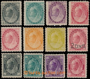 186427 - 1897-1902 selection of 12 stamps Victoria ½P - 7C, e.g.