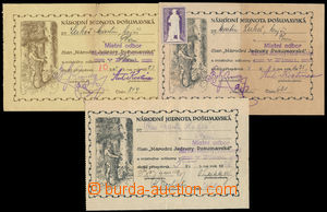 186445 - 1923-28 NÁRODNÍ JEDNOTA POŠUMAVSKÁ - ÚČTY + NÁLEPKY