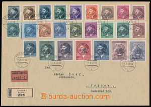 186459 - 1945 FRÝDEK  filatelisticky motivovaný R+Ex dopis s vylepeno