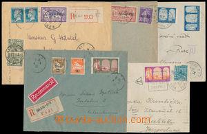 186499 - 1925-1931 sestava 5 většinou R+Let-dopisů, 2 s přetiskovými