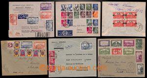 186500 - 1937-1953 9 Let-dopisů s vysokými frankaturami, Stavby 1930,