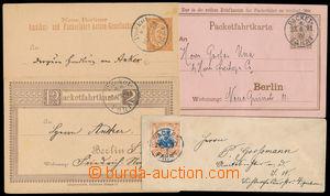 186520 - 1887-1897 MĚSTSKÁ POŠTA - PAKETFAHRT BERLIN  sestava 3ks