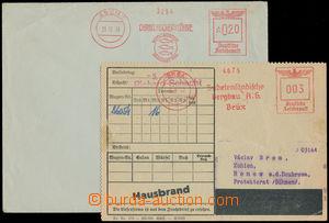 186617 - 1938-1942 OVS  sestava 2ks celistvostí s otiskem výplatního