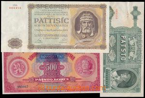 186717 - 1939-1944 Ba.44, 52, N5, sestava 3ks bankovek, přetisková 50