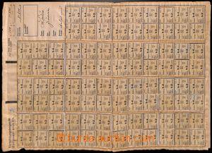 186725 - 1944 ČaM  sestava 3ks zúčtovacích archů na potravinové lístk