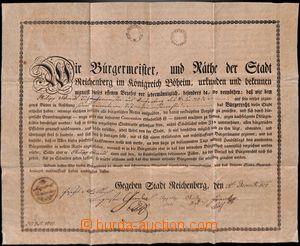 186734 - 1824 RAKOUSKO-UHERSKO / Liberec - městská listina, udělen