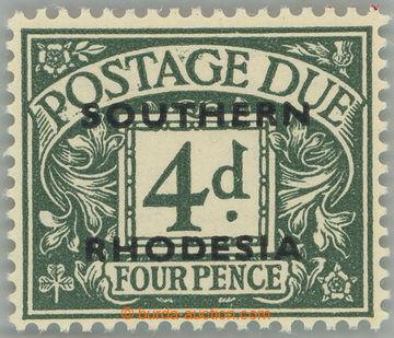 186778 - 1951 SG.D6, britská doplatní 4P s přetiskem SOUTHERN RHODESI