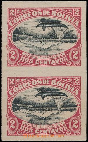 186830 - 1916 Sc.113d, Titicaca 2C černá / karmínová, nezoubkovaná 2-