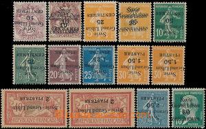 186834 - 1923 FRANCOUZSKÝ MANDÁT 13 hodnot z Mi.185-193, vše s PŘEVRÁ