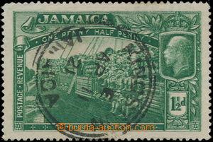 186841 - 1919 SG.80a, War Contingent 1915 1½P zelená, MAJOR RE-E