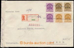 186883 - 1939 VELKÉ LOUČKY - NAGYLUCSKA  R-dopis adresovaný do Protek