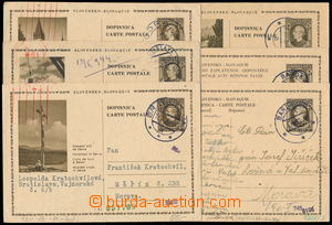 187062 - 1940-1942 sestava 6 prošlých celin zaslaných do Protektorátu