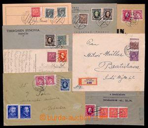 187243 - 1939 sestava 8ks poštovně prošlých celistvostí se smíšenými
