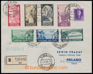 187288 - 1940 Reg airmail letter to Milan, i.a. with Mi.313-319, air-