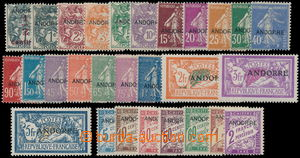 187413 - 1931 Mi.1-21, P1-7; selection of 21 stamps from I. issue Mar