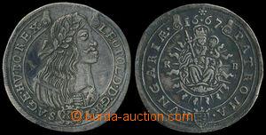 187527 - 1667 RAKOUSKO Leopold I. (1657-1705), XV krejcar 1667 KB