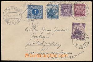 187765 - 1938 NIŽNÍ VERECKÝ  dopis zaslaný do Polska vyfr. smíšenou f