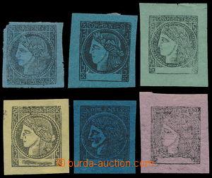 187876 - 1856-1880 CORRIENTÉS - Sc.1, 3-7, 8, Ceres 6 hodnot; nadprům