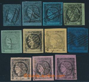187877 - 1856-1880 CORRIENTÉS - Sc.1-8, Ceres 11 hodnot; většinou nad