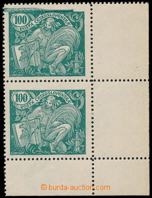 187916 -  Pof.164A VV, 100h světle zelená, ŘZ 13¾, dolní rohová