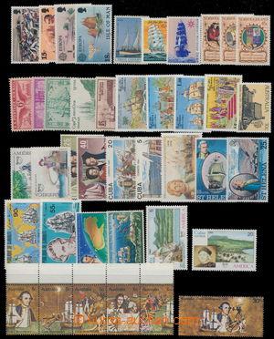187937 - 1965-1990 [SBÍRKY]  LODĚ  partie známek na 2 kartách A4, růz