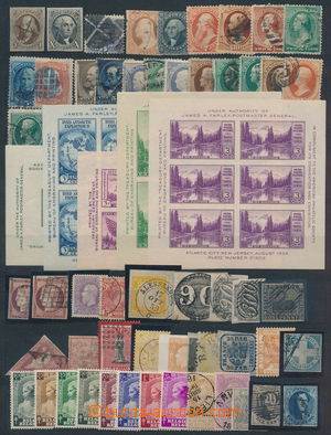 188114 - 1850-1930 [SBÍRKY]  CELÝ SVĚT  partie známek klasiky na kart