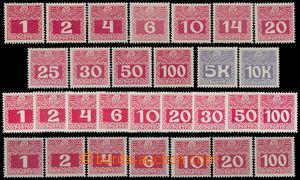 188156 - 1908-1913 Mi.34-44 z+x+y, 45-46, Doplatní velké číslice, kom