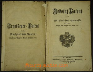 188184 - 1775-1777 [SBÍRKY]  MARIE TEREZIE / sestava dvou tištěných p