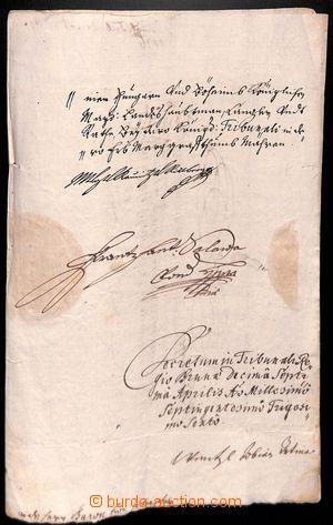 188187 - 1600-1800 [SBÍRKY]  zajímavá partie 10 listin, převážn