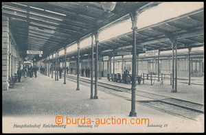 188203 - 1906 LIBEREC (Reichenberg) - railway-station, view of platfo