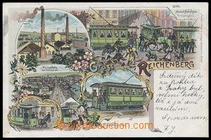 188204 - 1899 LIBEREC (Reichenberg) - 5-view lithography, i.a. tram;