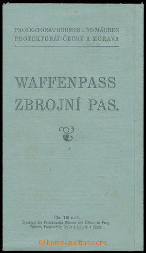 188207 - 1940 PROTEKTORÁT/ ZBROJNÍ PAS, 2-jazyčný, vydáno v Hranicích