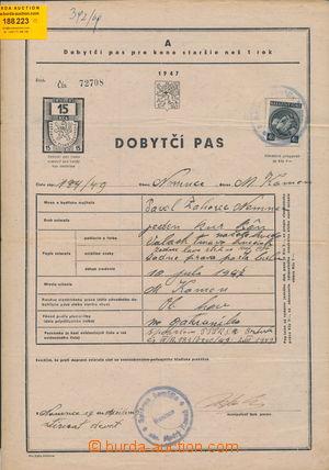 188223 - 1949 ČSR II.  dobytčí pas, sestava 2ks, tiskopisy z roku 194