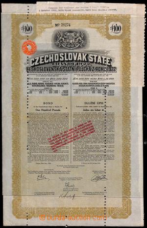 188224 - 1922 CZECHOSLOVAK STATE LOAN / Československá statní půjčka
