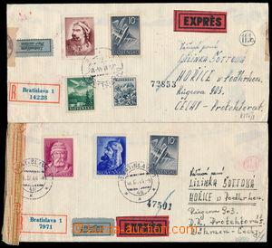 188410 - 1944 sestava 3ks R+Ex-dopisů adresovaných do Protektorátu, z