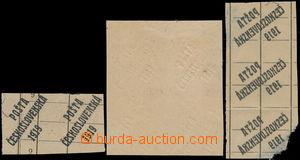 188433 -  ZT  sestava zkusmých tisků přetisku druh A, 1x normální ve