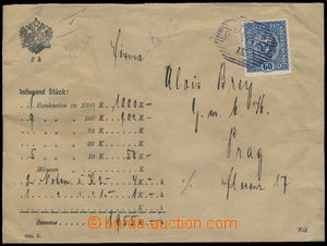 189282 - 1919 VÝPLATNÍ / MALÝ FORMÁT cenné psaní (!) na 1.955K�